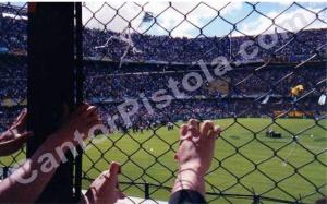 Alambrado Bombonera 10 noviembre 2001