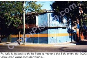 Barrio de la Boca, enero 2000
