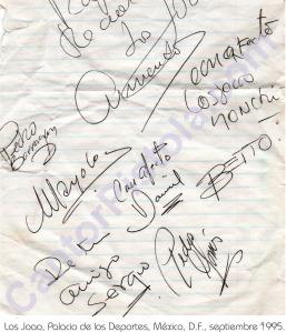 Los Joao septiembre de 1995 antes de una actuación