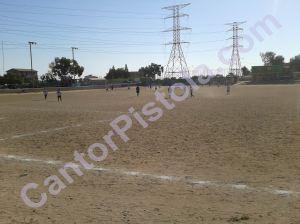Campo de fútbol en La Gloria